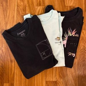 Salty Crew,  Empyre and Hurley shirts